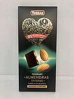 Шоколад Torras Zero чорний мигдаль 150 г