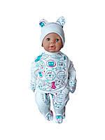 Комплект для новорожденного 3-х предмет. (инетрлок), фото 1