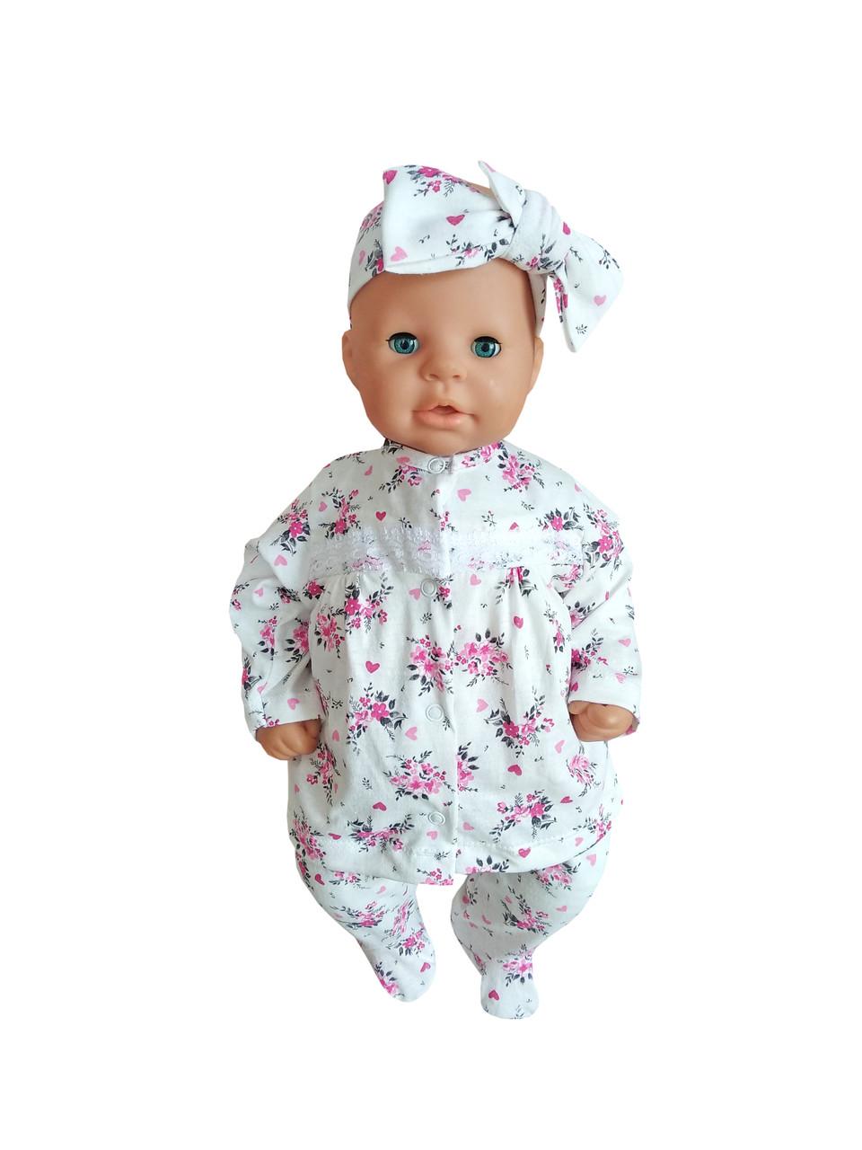 Комплект для новорожденного 3-х предмет. с повязкой (интерлок)