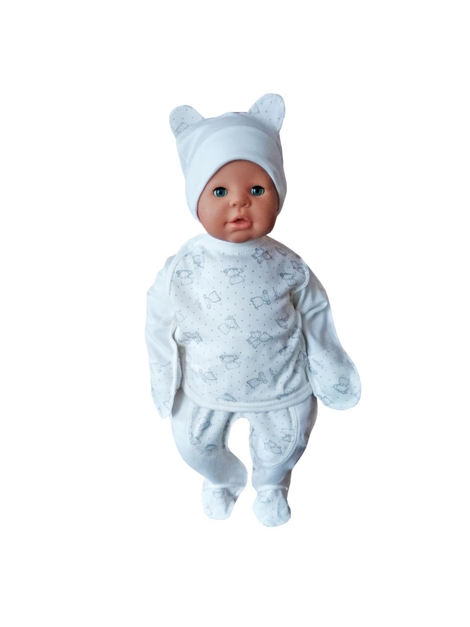 Комплект для новорожденного 3-х предмет. (инетрлок)