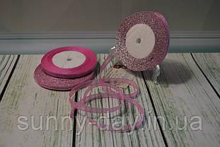Лента парча, 6мм (22метра), цвет - сиренево-розовый