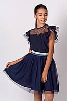 Школьная  блуза c коротким рукавом для девочки  128,  140р