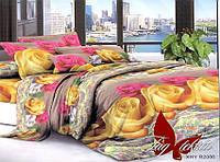 ✅ Двуспальный Евро комплект постельного белья (Поликоттон) TAG XHY2086