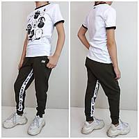 Современные спортивные брюки от VVK_PRO_SPORTХаки/белый
