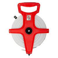 ✅ Рулетка геодезическая с полотном из стекловолокна 100 м*13 мм INTERTOOL MT-0760