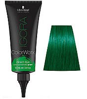 Краска для волос прямого действия Schwarzkopf Professional Igora ColorWorx - Зелёный - 100мл