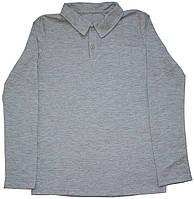 Серая рубашка поло для мальчика, рост 152 см, Robinzone