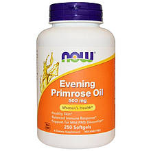 "Масло примулы вечерней NOW Foods ""Super Primrose Oil"" 500 мг (250 гелевых капсул)"