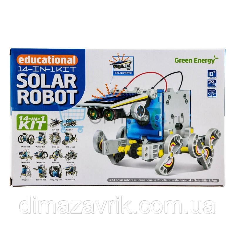 Конструктор Solar Robot Робот 14 в 1 на солнечной батарее
