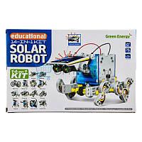 Конструктор Solar Robot Робот 14 в 1 на солнечной батарее, фото 1