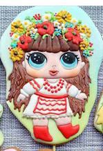 Трафарет + формочка-вирубка для пряників Лялька Лол - Українка
