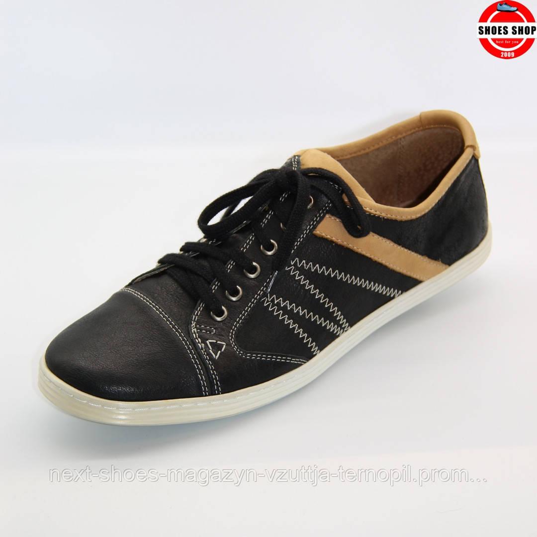 Чоловічі кросівки Lesta (Польща) чорного кольору. Зручні та красиві. Стиль - Джуд Лоу