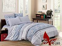 ✅ Двуспальный Евро комплект постельного белья (Люкс-сатин) TAG S285