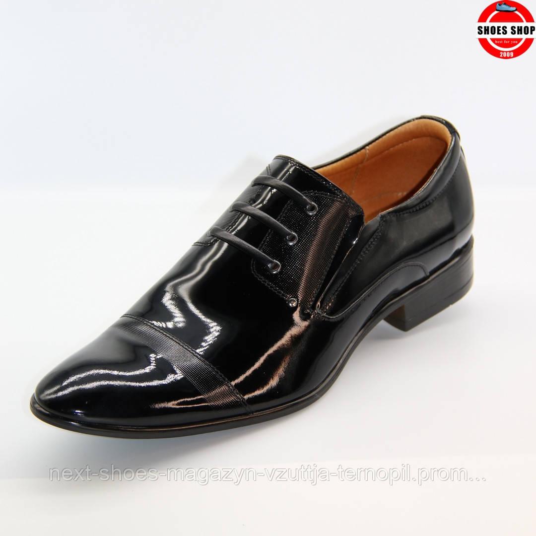 Чоловічі туфлі TAPI (Польща) чорного кольору. Ідеально підходять під костюм. Стиль: Джеймс Бонд