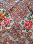 Волшебная сила любви 1723-0, павлопосадский платок шерстяной  с шелковой бахромой, фото 7