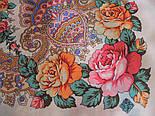 Волшебная сила любви 1723-0, павлопосадский платок шерстяной  с шелковой бахромой, фото 5