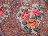 Волшебная сила любви 1723-0, павлопосадский платок шерстяной  с шелковой бахромой, фото 9