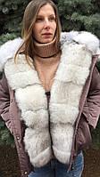 Женская парка меховой капюшон, фото 1
