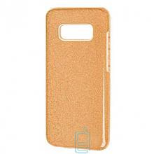 Чехол силиконовый Shine Samsung S10E G970 золотистый