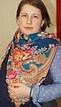 Лабзинский 1722-12, павлопосадский платок (шаль) из уплотненной шерсти с шелковой вязанной бахромой, фото 7