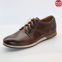 Чоловічі туфлі Conhpol (Польща) коричневого кольору. Зручні та красиві. Стиль - Джуд Лоу