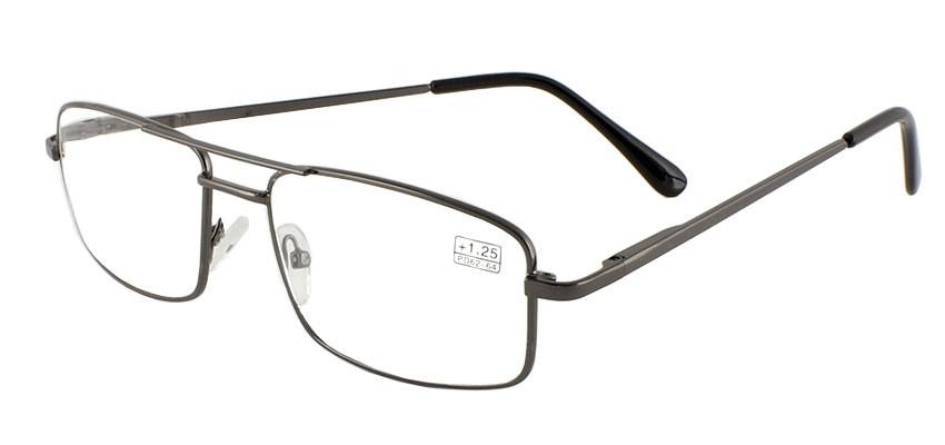 Очки диоптрийные для близи, для чтения, мужские, в металлической оправе с флексами, стекло, Fabrika