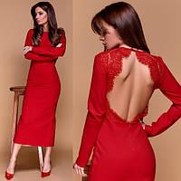 Платье midi с открытой спиной 11201