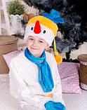 Новогодний детский костюм снеговика, фото 2