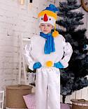 Новогодний детский костюм снеговика, фото 4