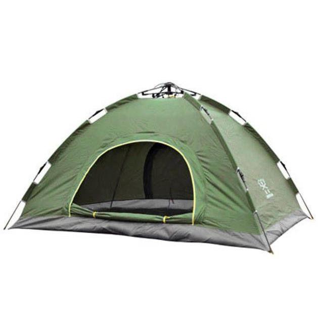 Палатка автоматическая, 4-х местная, Зеленая