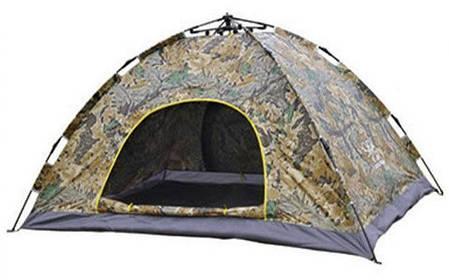 Палатка автоматическая, 4-х местная, Зеленая, фото 2