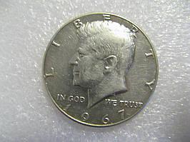 США 50 центов 1967  Кенеди