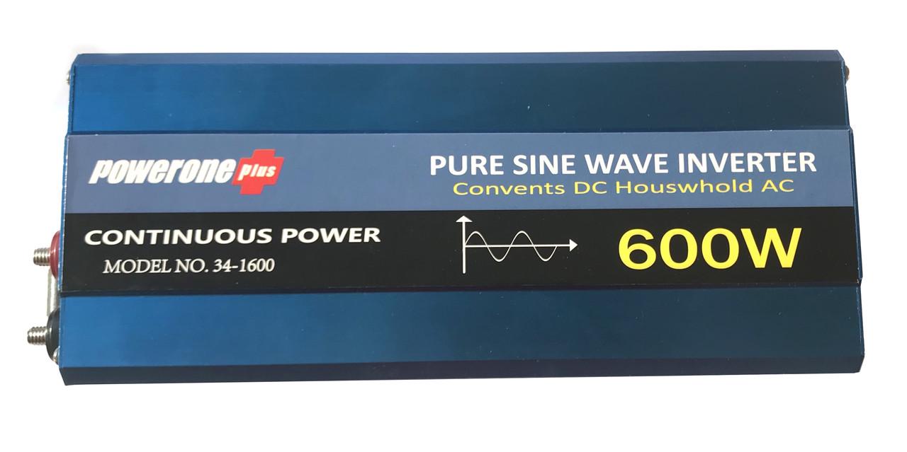 Преобразователь с чистой синусоидой  PowerOne Plus 12V-220V 600W