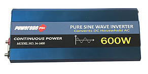 Перетворювач з чистою синусоїдою PowerOne Plus 12V-220V 600W