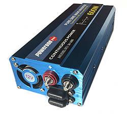 Преобразователь с чистой синусоидой  PowerOne Plus 12V-220V 600W, фото 3