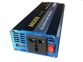 Преобразователь с чистой синусоидой  PowerOne Plus 12V-220V 600W, фото 2
