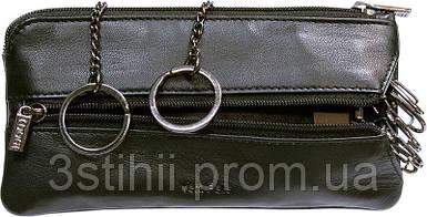 Ключница кожаная Tony Perotti Cortina 5021-CR nero Черная
