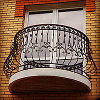Перила кованые на балкон арт.кп 30, фото 1