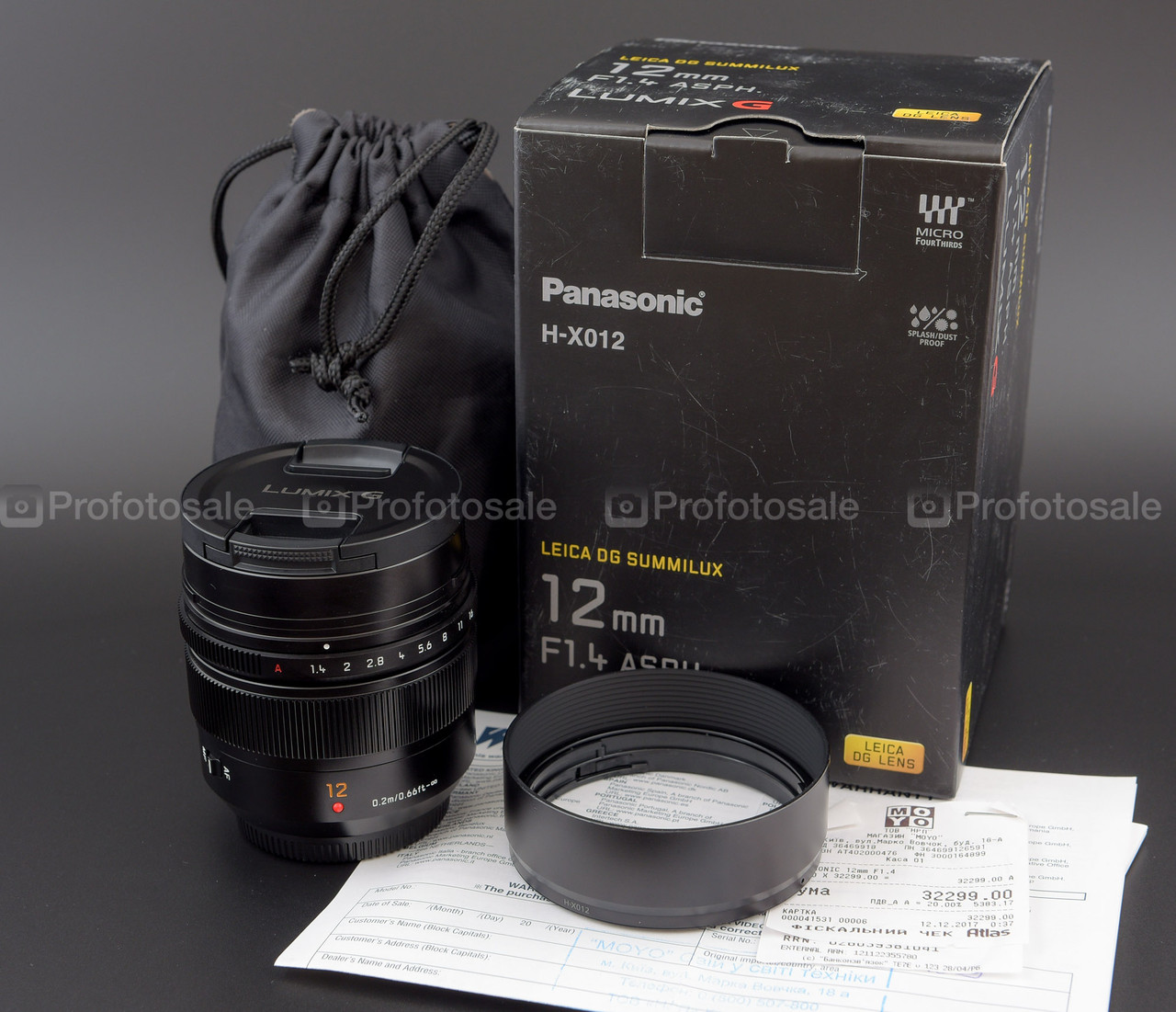 Panasonic Leica DG Summilux 12mm f/1.4 ASPH. (H-X012)