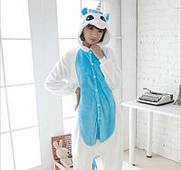 ✅  Пижама Кигуруми Единорог Бело-голубой с крыльями S (на рост 148-158см)