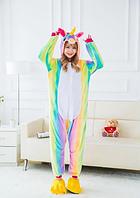 ✅ Пижама Кигуруми Единорог радужный M (на рост 158-168см), фото 1