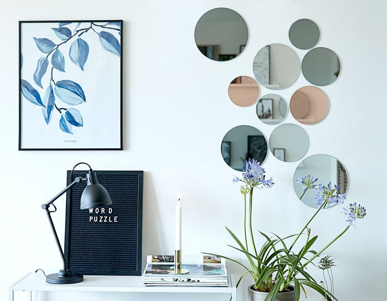 Набор декоративных круглых зеркал диаметр 12, 15, 18, 21 см (10 шт.)