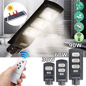 Led светильник на солнечной батарее 90W с пультом. Led фонарь на столб