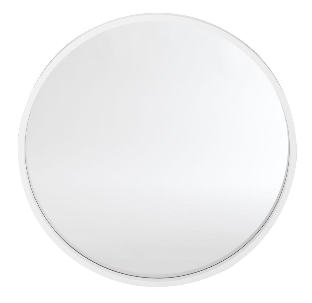 Велике біле кругле дзеркало настінне діаметр 55см