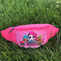 Детская поясная сумка бананка с L.O.L. Лол