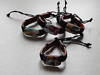 Кожаные браслеты с иконками