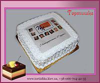 Фото торт корпоративный с лого