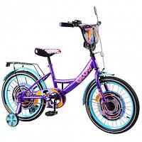 """Велосипед 18"""" TILLY Glow ,T-218213 purple + blue"""