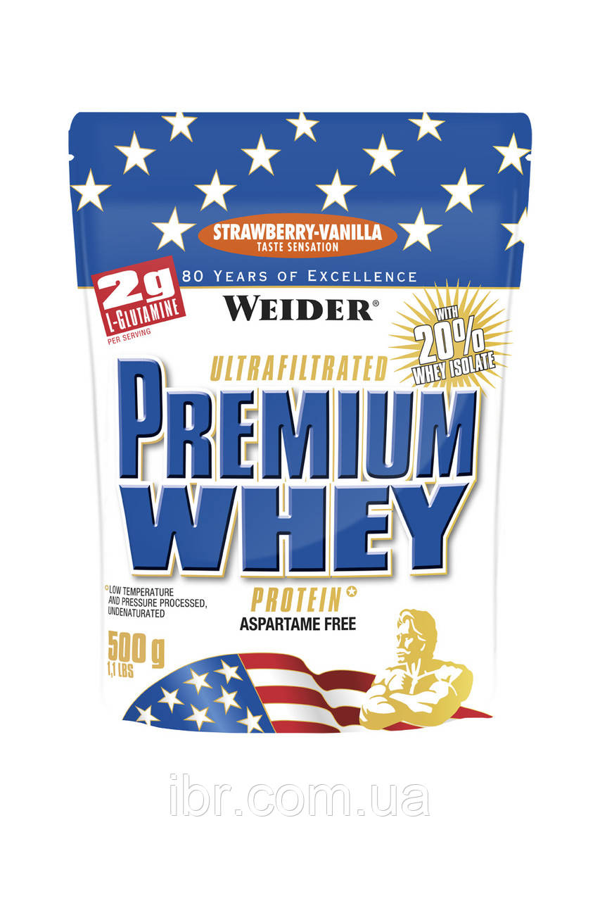 Протеин WEIDER PREMIUM WHEY 500 g Strawberry-Vanilla