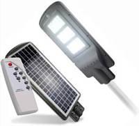 Led светильник 90W на солнечной батарее с пультом и датчиком движения. Светодиодный фонарь на столб